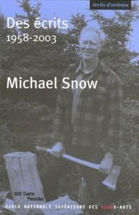 Des écrits : 1958-2003