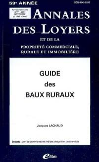 Guide des baux ruraux