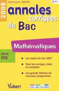 Mathématiques série STG : Annales corrigées du Bac