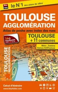 Atlas de poche de Toulouse et de son agglomération (plans de 12 communes)
