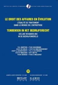 Le droit des affaires en évolution : L'égalité de traitement dans le monde de l'entreprise
