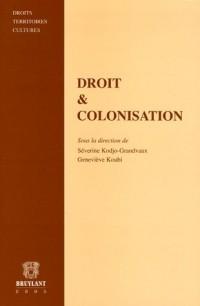 Droit & Colonisation