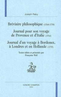 Bréviaire philosophique (1760-1770)