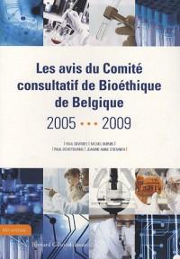 Les avis du comité consultatif de bioéthique de Belgique 2005-2009
