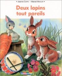 Deux lapins tout pareils (livre souple)
