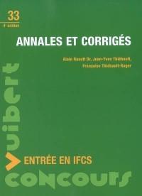 Entrée en IFCS : Annales et corrigés