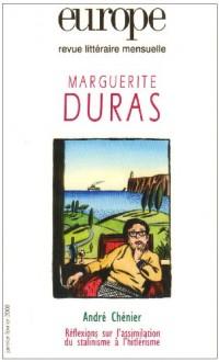 Europe, revue litteraire menseuelle Marguerite Duras : janvier-fevrier 2006