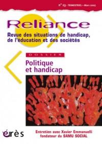 Reliance 23 Politique et Handicap