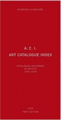 A.c.i., Art Catalogue Index