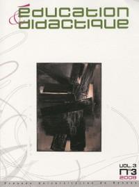 Education et didactique vol 3/n 3