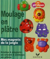 Moulage en plâtre : Mes magnets de la jungle