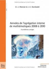 Annales de l'agrégation interne de 2008 à 2010