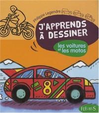 J'apprends a dessiner les voitures et les motos : Avec un bloc de papier Canson