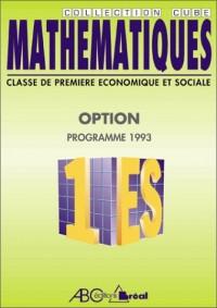 Mathematiques 1 es option