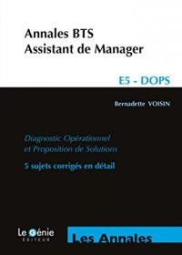 Annales BTS assistant de manager : Epreuve E5 - DOPS