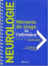 Neurologie : Mémento de stage de l'infirmière