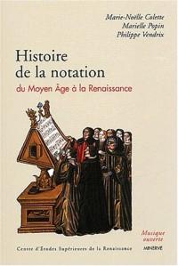 Histoire de la notation du Moyen Age à la Renaissance
