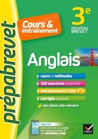 Anglais 3e (A2-B1) - Prépabrevet Cours & entraînement: fiches de cours, entraînement écrit et oral