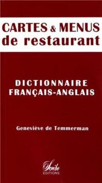 Cartes et menus de restaurant : DIctionnaire français-anglais