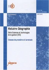 Histoire-Géographie : Programmes classes de première et terminale série sciences et technologies de la gestion (STG)