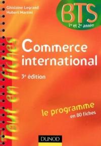 Commerce international - 3e édition - Le programme en 80 fiches