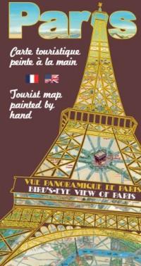 Carte Touristique de Paris Peinte à la Main