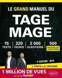 Le Grand Manuel du TAGE MAGE - 220 fiches, 15 tests, 2000 questions + corrigés en vidéo - 3e édition 2019