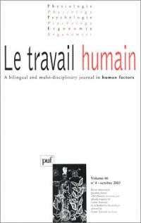 Le travail humain 2003, volume 66, numéro 4