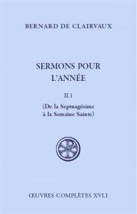 Sermons pour l'année