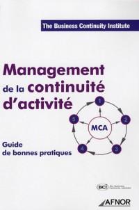 Management de la continuité d'activité : Guide de bonnes pratiques