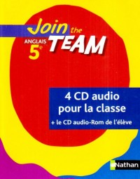 Join the Team 5e CD Audio Classe + CD-ROM Eleve
