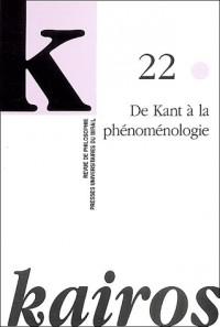 De kant a la phénoménologie revue kairos nø22