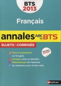 Annales Bts 2013 Français