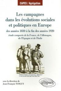 Les campagnes dans les évolutions sociales et politiques en Europe, des années 1830 à la fin des années 1920 : Etude comparée de la France, de l'Allemagne, de l'Espagne et de l'Italie