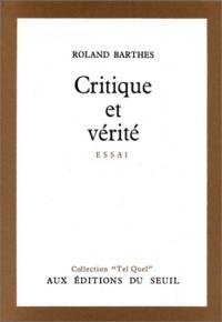 Critique et vérité