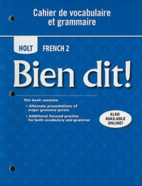 Holt French 2: Cahier De Vocabulaire Et Grammaire