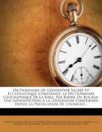 Dictionnaire De Géographie Sacrée Et Ecc