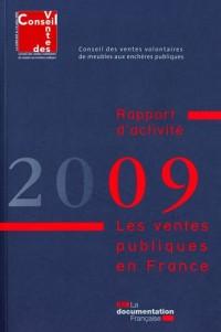 Les ventes publiques en France : Rapport d'activité 2009