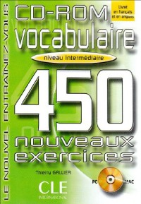 CD-ROM vocabulaire 450 exercices niveau intermediaire