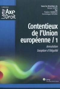 Contentieux de l'union européenne 1