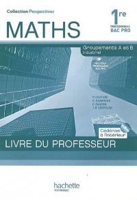 Maths 1e Bac Pro : Groupements A et B industriel (1Cédérom)