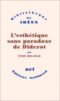 L'Esthétique sans paradoxe de Diderot
