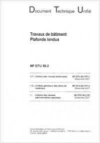 Nf Dtu 58.2. Plafonds Tendus