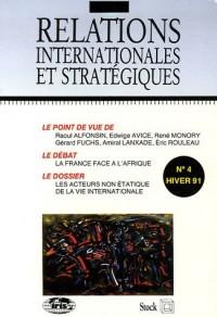 Relations internationales et stratégiques, N° 4 hiver 91 : Les acteurs non-étatiques de la vie internationale