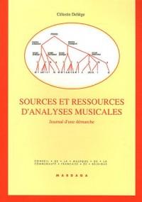 Sources et ressources d'analyses musicales : Journal d'une démarche