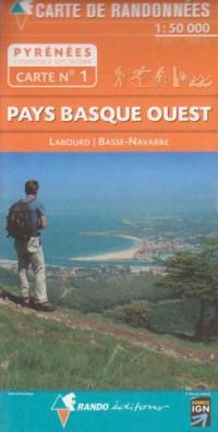 Pays Basque Ouest : 1/50 000