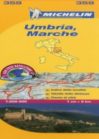 Michelin Map Italy: Umbria, Marche 359