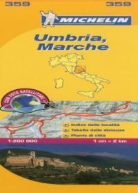 Michelin Map Italy: Umbria, Marche 359
