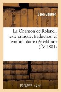 La Chanson de Roland  9e ed  ed 1881