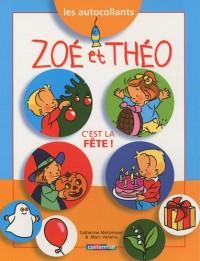 Les autocollants Zoé et Théo : Les fêtes